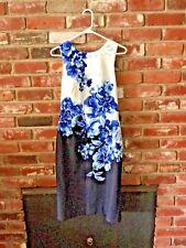 Anthropologie Maeve Women Dress Blue/White Floral Sz 8 EUC Retail $148