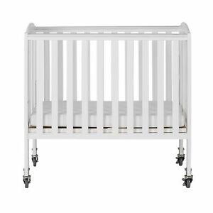 Dream On Me 2-in-1 Birch Folding Portable Crib White