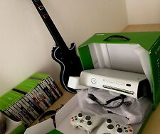 XBox 360 White (not working). + 20 Games + Guitar Hero (Good Condition)