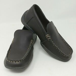 NEW! Kenneth Cole Reaction Leather Dress Loafer - Boy's Sizes 10K-2Y, Brown