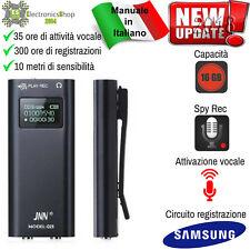 MICRO REGISTRATORE AUDIO ATTIVAZIONE VOCALE 16 GB SPY MINI SPIA AMBIENTALE USB