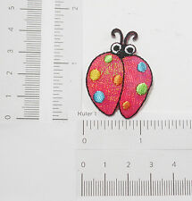 Red Ladybird Iron On Appliques x 2