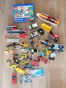 LOT LEGO VINTAGE bateau pompier - CITY - POLICE - HOPITAL - voiture