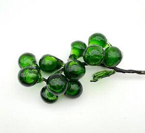 Hand Blown Green Art Glass Grape Cluster