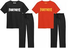 Official Boys Fortnite Pyjamas Kids Outfit T-Shirt Bottoms Ages 8-15 Christmas