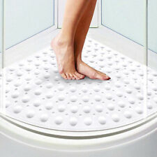 Corner Bath Shower Mat Non Slip Quadrant Sector Rubber Anti-Bacterial 54x54cm Us