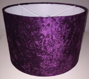 Handmade Lampshade in Purple Grape Velvet, ceiling or lamp, various sizes
