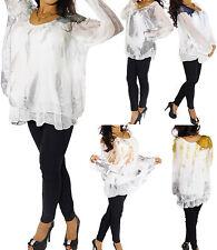 Mehrfarbige Langarm Damenblusen, - tops & -shirts im Tunika-Stil