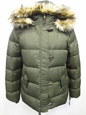 RALPH LAUREN XL Faux-Fur Hooded Toggle-Front Down Puffer Jacket MSRP $245 X127