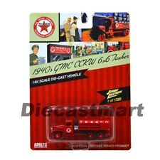 JOHNNY LIGHTNING JLTX003 1940 GMC CCKW 6X6 TANKER TEXACO 1:64 DIECAST MODEL RED