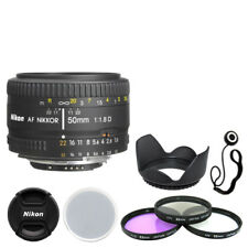 Nikon AF NIKKOR 50mm f/1.8D Lens + Deluxe Accessory Kit