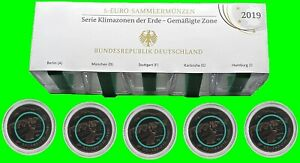 Germany 5 x 5 Euro Moderate Zone ADFGJ 2019 Mirror Gloss Polymer Ring