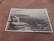 Early real photo postcard -old town from West Hill - Hastings - Sussex