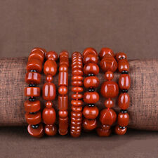 Stretchy Bangle Bracelet Various Shape Natural SiChuan South Red Agate Beads