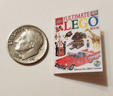 "Miniature Dollhouse Legos Toys Action Figure  book Barbie 1/12 Scale  1""  Car ab"