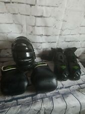 Premier Martial Arts gloves 12 oz shoes and mask protector used good conditions