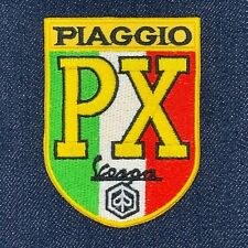 VESPA PX PIAGGIO SCOOTER MOTORCYCLES LOGO IRON ON EMBROIDERED PATCH