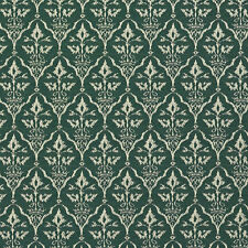 B664 Green, Diamond Cameo Woven Jacquard Upholstery Fabric By The Yard
