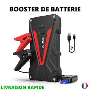 Booster de Batterie Voiture Portable Jump Starter Démarreur 800A 12800mAh Pinces