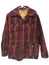 Vintage Woolrich Mens Size 38 Hunting Jacket Mackinaw Buffalo Plaid Wool *
