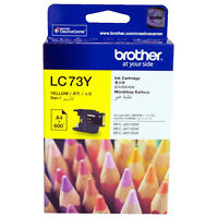 GENUINE Original Brother LC73Y LC-73 YELLOW Ink Cartridge Toner High Yield