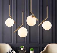 Modern Nordic Glass ball LED Pendant Lamp Chandelier Ceiling Lighting fixture