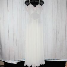 VTG 60s 70s Vanity Fair Sz 12 White Ruffled Wedding Lingerie Pin Up Night Gown