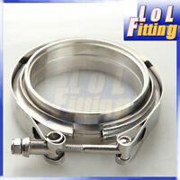 "3.5"" Self Aligning Male/Female V-Band Vband Clamp CNC Stainless Steel Flange Kit"