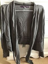 River Island Cropped Black And Grey Cardigan Lightweight Size 10
