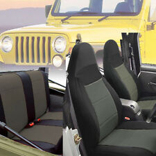 Jeep Wrangler 1997-02 Neoprene Front Rear Car Seat Cover Full Set Charcoal tj127
