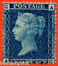 "SG. 45. G2. "" AG "". 2d blue. Plate 8. A fine mounted mint example."