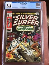 Silver Surfer 9 CGC 7.5 OW/W Buscema Mephisto GLOSSY OO SWEET