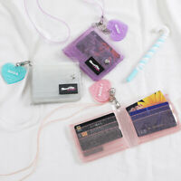 Fashion Transparent Women Purse Clear Short Purse Mini Money Wallet Card Holder