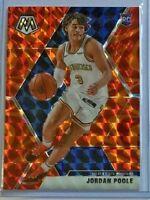 Jordan Poole *Reactive Orange* rookie 2019-20 Panini Mosaic 🏀 Golden State