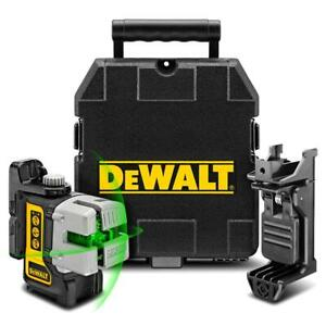 DeWalt DW089CG-XJ Green Beam Self Levelling 3 Line Cross Laser Level Kit