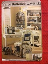 B5160 Butterick Craft Sewing Room Items: Organizer, Chair Cover Sewing Pattern