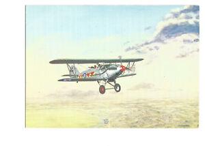 Postcard painting print Hawker Demon No 604 Squadron RAF   (B4g)