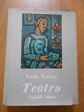 Carlo Terron TEATRO 1° ed. Cappelli 1961