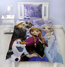Disney Frozen Team SIngle Duvet 100% Cotton Flannel Reversible Bedding Elsa Anna