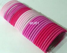 40 HAIR ELASTICS BOBBLES HAIR BANDS HAIRBANDS ASSORTED COLOUR PONYTAIL HOLDER