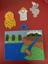 FELT BOARD/FLANNEL STORY RHYME TEACHER RESOURCE -THE WATER CYCLE