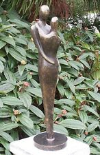 Bronzeskulptur, modernes Liebespaar, Dekoration für Haus und Garten