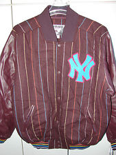 New York Yankees  Large  Wool & Leather Jacket  Majestic Home Base Coll//NWT