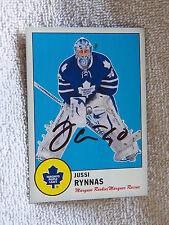 Toronto Maple Leafs Jussi Rynnas Signed 12/13 O-Pee-Chee Retro Card Auto