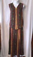 TIMBUKTU Sleeveless Bohemian Tribal Tunic Top & Skirt Outfit/Set, Size 2, Small