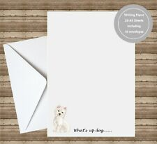 West Highland Terrier Dog Writing Paper With Envelopes Handmade Craft
