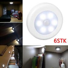 6 x Nachtlicht mit 6 LED Bewegungsmelder Sensor Weiß Nachtleuchte Lampe