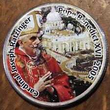 PIECE COLORISEE COMMÉMORATIVE BENOIT XVI SUR HALF DOLLAR KENNEDY (353)