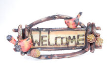 "Cardinal ""Welcome"" Sign Plaque Indoor Decor & Wall Accents"