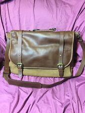 "16""x12"" Brown Leather Satchel MacBook Laptop Crossbody Messenger Bag"